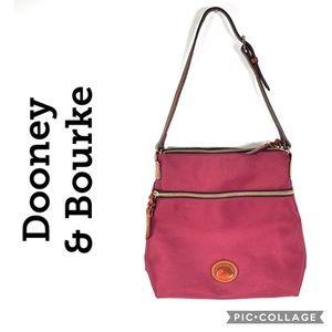 Dooney & Bourke red flat double zipper purse bag